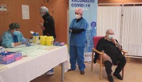 A la residència Balàfia I ja s'ha administrat la segona dosi de la vacuna.