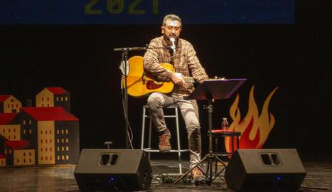 L'artista valencià va presentar 'Convocatòria' a Tàrrega.