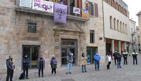 Concentració contra la violència masclista a Tàrrega el 25-N.