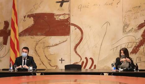 Aragonès recorda que el dret d'assistir a un míting preval jurídicament però demana