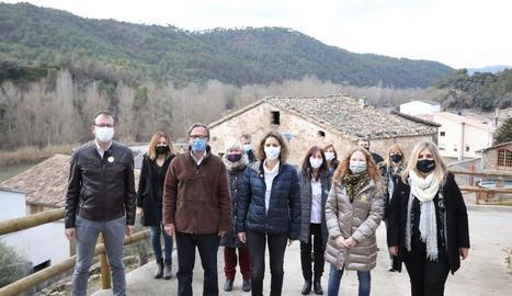 Chacón va visitar ahir Bassella, a l'Alt Urgell.