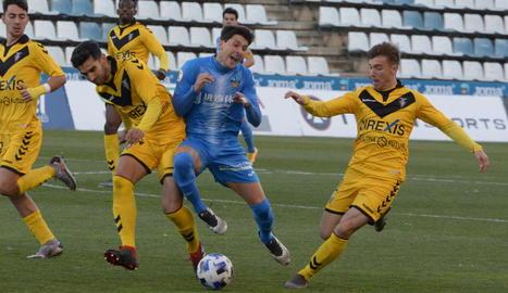 El Lleida es col·loca segon després de guanyar al Badalona (1-0)
