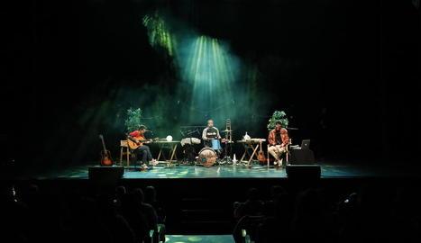Imatge del concert ahir a la tarda al Teatre Municipal de Balaguer.