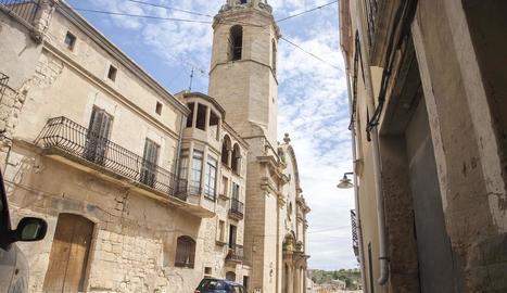 Imatge del centre històric de Maldà, on hi ha 57 cases buides.