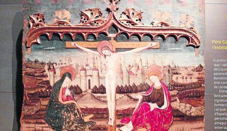 Les obres arribades des de Lleida, ahir al Museu Diocesà de Barbastre.