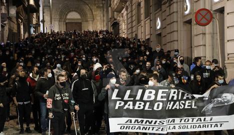 La manifestació d'aquest dissabte ha aplegat unes 800 persones.