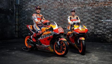 La presentació de l'equip Repsol Honda de MotoGP, amb Marc Màrquez i Pol Espargaró.