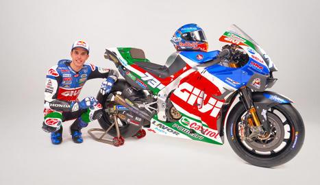 Marc Márquez i Pol Espargaró van ser presentats ahir de forma oficial com els pilots de l'equip Repsol Honda a MotoGP.