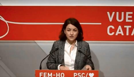 Eva Granados, viceprimera secretària del PSC, ahir.