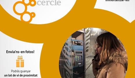 Cercle vol retre homenatge a les cabines telefòniques