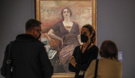 Un dels quadres del pintor Joaquim Sorolla exposats a la mostra.