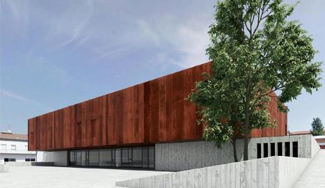 Imatge virtual de com quedarà l'edifici de l'Arxiu.