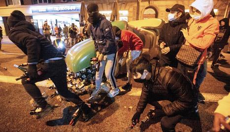 Imatges com aquesta no es van repetir ahir als carrers de Bacelona.