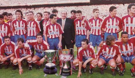 L'Atlètico del doblet en 1995-1996
