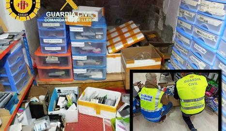 Intervenen a Lleida material falsificat per valor de més de 70.000 euros