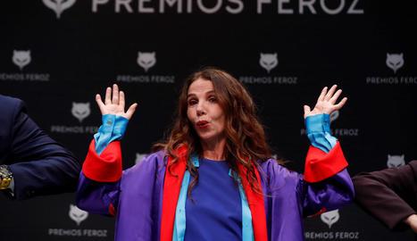 L'actriu madrilenya, Premi Feroz d'Honor 2021, va fer ahir un discurs antivacunes pel coronavirus.