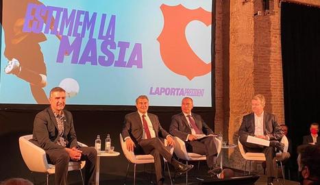 Joan Laporta va presentar ahir el projecte esportiu amb els membres de la seua candidatura.