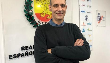 Gerard Lasierra, dimecres a la seu federativa a Madrid.