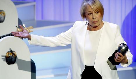 L'actriu, que va morir el 2020, amb el premi Gaudí d'Honor 2016.