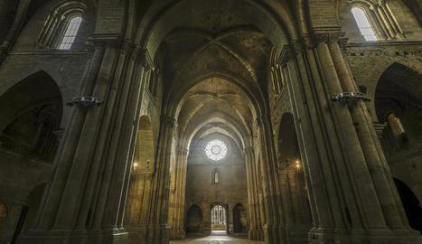 Imatge de l'interior de la Seu Vella.