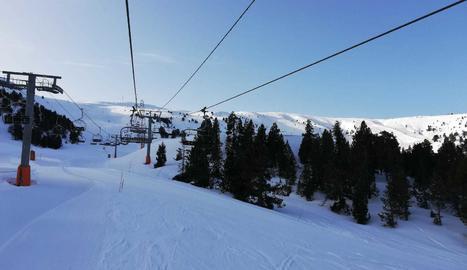 Una imatge de l'estació d'esquí Port Ainé.