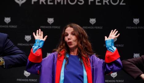 Victoria Abril en els premis Feroz.