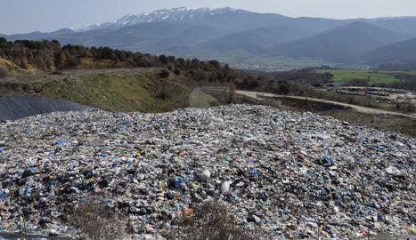 El vertedero comarcal del Alt Urgell, gestionado por la Mancomunitat d'Escombraries de l'Urgellet