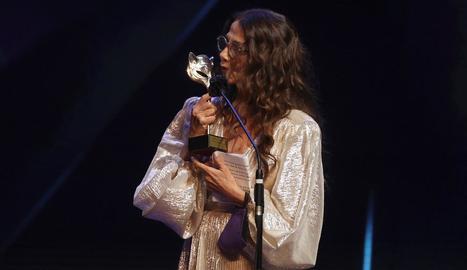 L'actriu Victoria Abril, ahir a la nit, a la gala dels premis Feroz.