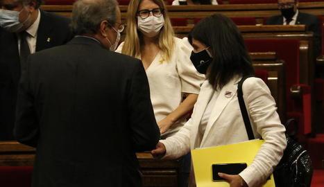 Marta Vilalta, d'ERC, i Elsa Artadi, de JxCat, formen part dels equips negociadors dels seus partits.