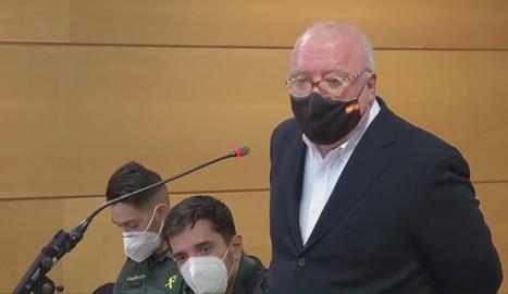 L'excomissari José Manuel Villarejo durant la declaració al jutjat número 8 de Madrid el 15 de gener.