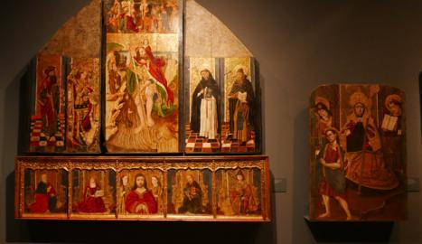 La predel·la (part inferior d'un retaule) originària de Saidí, del segle XV, que també viatjarà des del Museu de Lleida fins al Museu Diocesà de Barbastre.