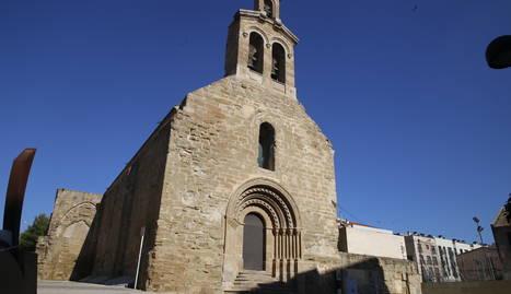 Façana de Sant Martí de Lleida, amb el pòrtic d'El Tormillo.
