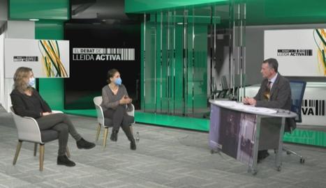 Un moment de l'enregistrament del programa a Lleida TV.
