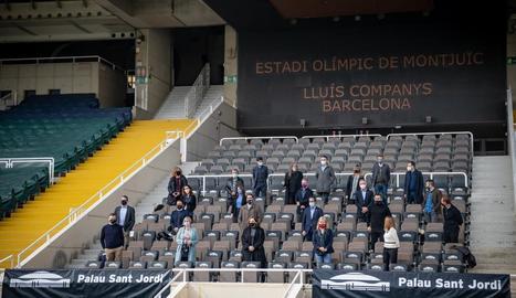 La plataforma Festivals per la Cultura Segura va presentar ahir aquest concert a l'Estadi de Montjuïc.