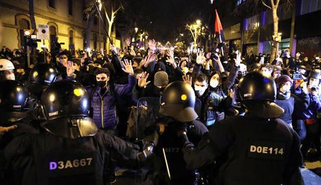 La manifestació va congregar mig miler de persones.