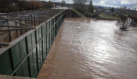 Amb el Glòria, l'aigua va pujar 1,5 metres, fins al pont de Ferro.