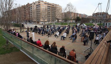 IMATGES | Acte unitari pel 8M a Lleida