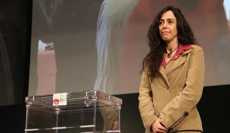 Mònica Roca, ahir, després de ser elegida presidenta de la Cambra.