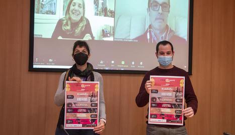 Els organitzadors presentant el calendari de projeccions nominades als Premis Gaudí.