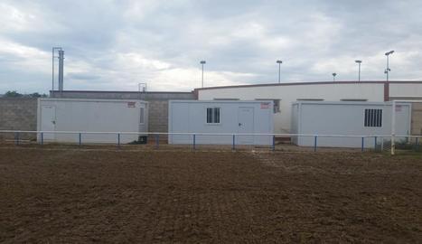 Les casetes que es van instal·lar l'any passat a Aitona.