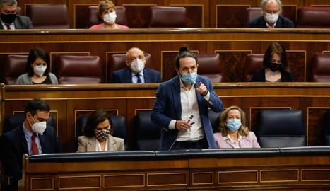 Pablo Iglesias en la sessió de control del Congrés.