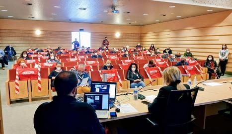 Celebración de la 3ª Conferencia de la Federación de Industria de CCOO en el auditorio Joan Oró
