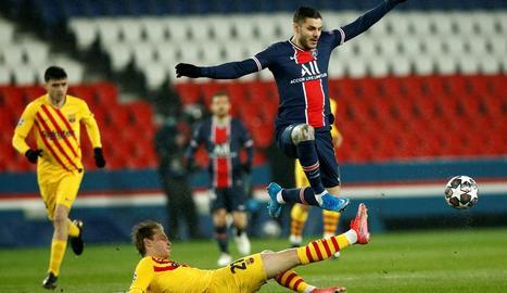 Keylor Navas li va endevinar el llançament a Leo Messi, que minuts abans havia marcat un golàs per empatar el partit al Parc dels Prínceps.