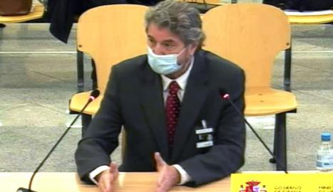 El exgerente del PP, Cristóbal Páez, durante su declaración ayer.