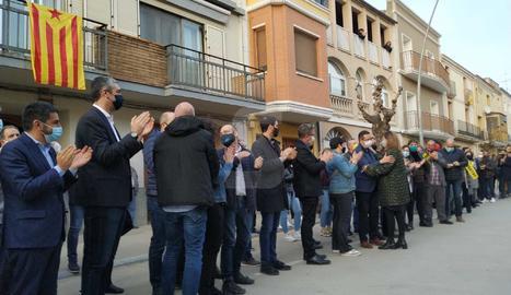 Meritxell Serret torna a Vallfogona de Balaguer després de tres anys d'exili