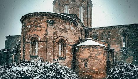 Nevant copiosament el diumenge 10 de gener.