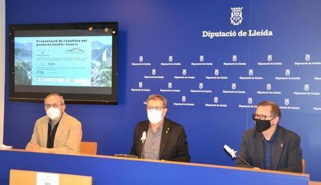 Presentació de la investigació a la Diputació de Lleida.