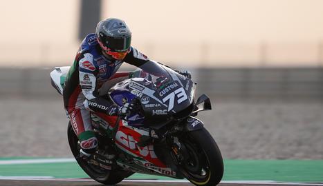 Àlex Márquez, durante un reciente entrenamiento con su nuevo moto.