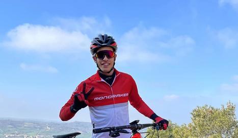 Marc Márquez, ahir amb la bicicleta de BTT.