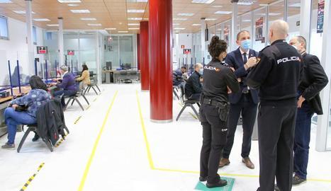 Imatge de la comissaria de la Policia Nacional a Lleida.